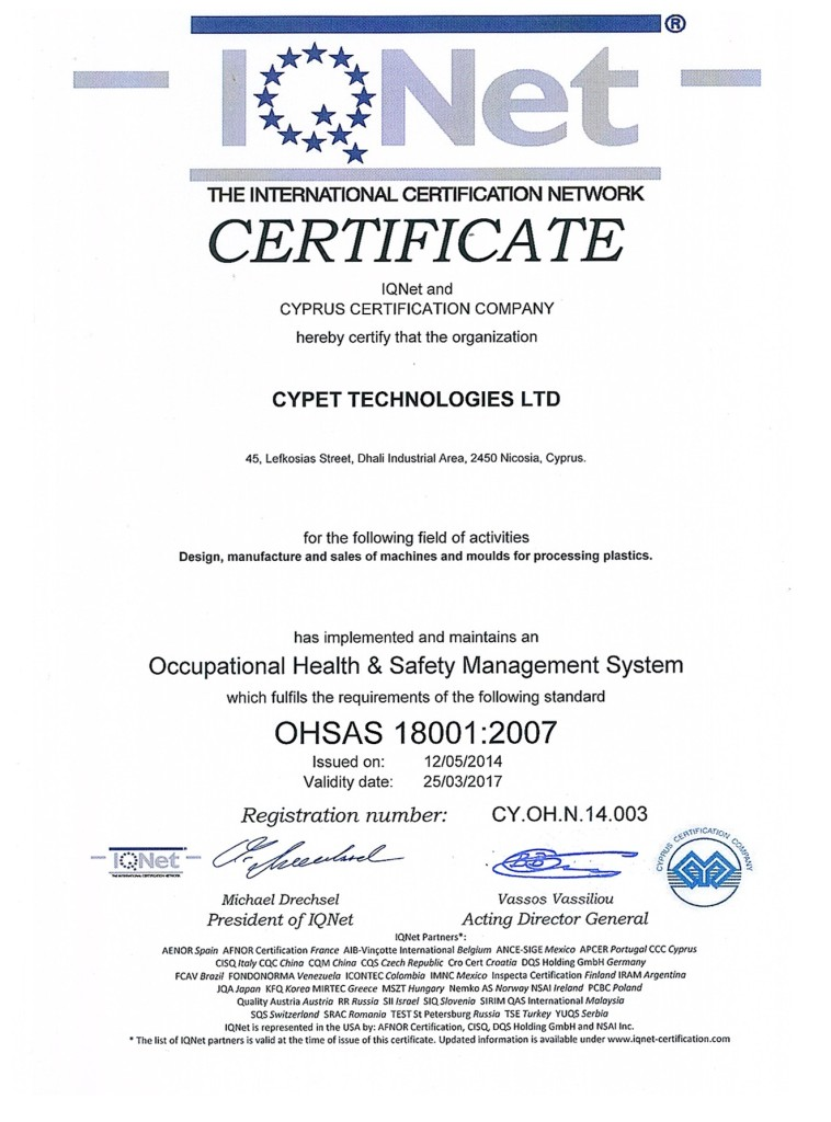 OHSAS18001-IQNET