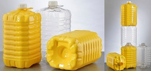 Stackable bottles with integrated handle