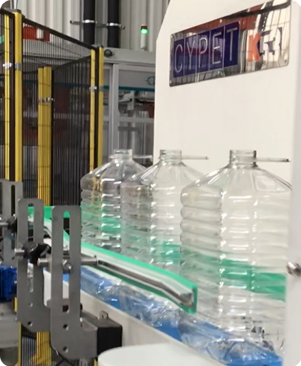 CYPET PET Bottles on Conveyor
