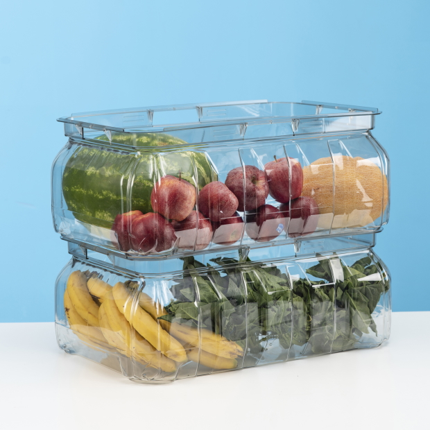 CYPET 60 liter fruit crate with ribs